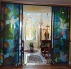 Drzwi do kaplicy Jana Pawła II - witraż