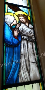 Matka Boska na Drodze Krzyżowej - witraże