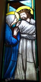 IV stacja – Jezus spotyka swoją Matkę - witraż