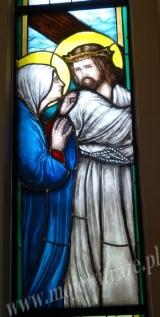 Witraż - Jezus z Matką na Drodze Krzyżowej