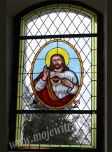 Serce Jezusowe - witraż