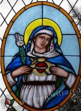 Niepokalane Serce Maryi - witraż