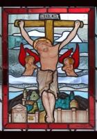 Ukrzyżowanie Jezusa - witraże sakralne