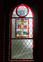 Ukrzyżowanie Jezusa - witraż