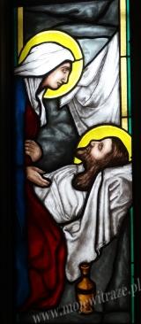 Matka i Jezus - witraż