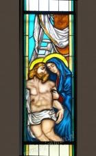 Matka Boska i Jezus - witraż sakralny