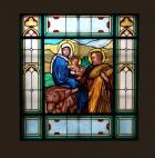 Ucieczka Świętej Rodziny do Egiptu - witraż
