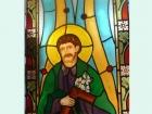 Witrażowe oknow kościel - Św. Józef