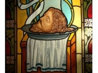 Ścięcie Jana Chrzciciela - witraż