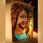 Jezus - witraż, fusing