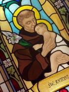 Święty Antoni - witraż