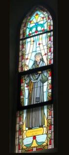 Św. Faustyna Kowalska - witraż sakralny